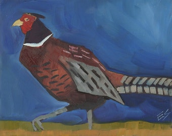 Pheasant Original Oil Painting