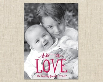 photo valentine card. This is love Card