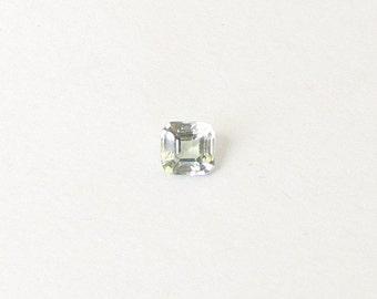 Genuine Green Sapphire, Square Octagon Cut, 0.47 carat