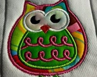 Personalized Owl Burp Cloth