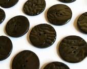 ON SALE, Ceramic Buttons, Handmade Buttons,  Dark chocolate ceramic buttons, artisan buttons