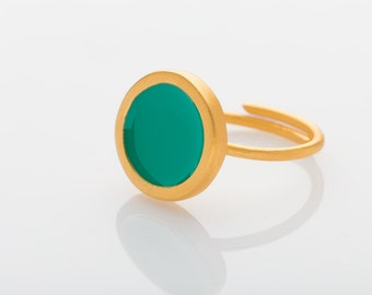 Color Rings / Brass / Gold Plated