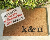 LARGE COIR  INITIALS Doormat …  Personalized & Hand Painted with Your Initials