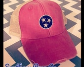 Tennessee Distressed Trucker Cap