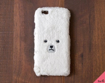 Bear iPhone Cover for iPhone6 / 6s [hard type] White