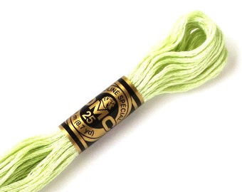 DMC 772 Floss - 6 Strand Embroidery Floss - Very Light Yellow Green