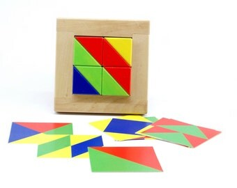 Developing geometrical puzzle - Eight triangles (age 3-6)