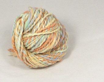Sunset 2 ply fractal spun merino Hand spun yarn.  hand dyed Pure Australian wool yarn.
