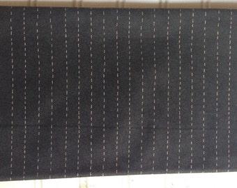 Full Circle Black Running stitch 1 yard Moda Fabric