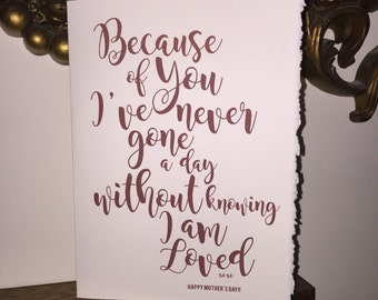 because of you mom / mum, loved [mom / mum cards]