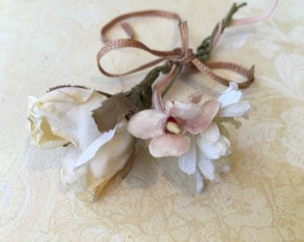 Pretty Little Vintage Millinery Flowers for Small Project