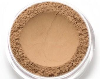 "Mineral Wonder Powder Foundation - ""Walnut"" - medium shade with a pink undertone - vegan makeup"