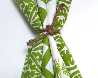 Fabric Scraps - Green Fabric - Destash - Quilting- Yardage - Crafting Supplies - Nursery fabric - Fabric Bundles