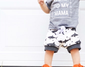 Shark Attack Print Baby Boy Shorts, Hipster Baby Clothes, Hipster Baby Boy Clothes, Hipster Baby Shorts, Girl Toddler, Baby Girl Clothes