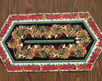 Handmade Christmas Holiday Quilted Table Runner