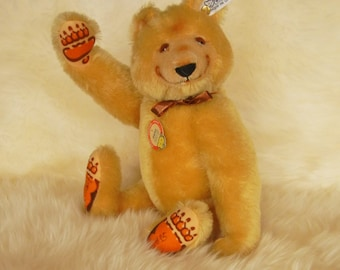 SALE-1930 Dicky Bear Ltd Edition Replica Signed with ALL IDs  & Original Steiff Box  13 inches Tall -  Mint condition - All Jointed