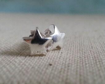 Silver Stud Earrings. Star Earrings. Sterling Silver Earrings. Star Charms. Star Studs. Delicate Minimal. Tiny Star.Star Jewelry