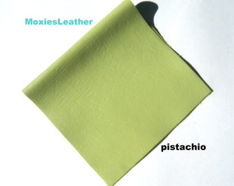 Green pistachio leather genuine leather crafts jewellery