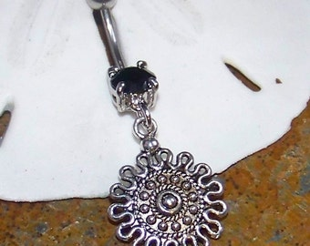 Belly Button Ring - Belly Button Jewelry - Black Belly Ring - Body Jewelry - Belly Button Jewelry - ONLY ONE