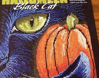 Halloween Black Cat - Cross Stitch Pattern Only
