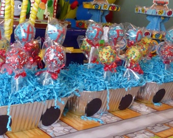 Train Party Theme Cake Pops  24 pops