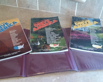 Readers Digest set of 3 Drive America maps in folder. FREE shipping USA
