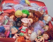 Strawberry Shortcake Dolls Over 30 Vintage Dolls and Accessories Retro Dolls Doll Lot Shortcake Accessories Party Pleaser Dolls
