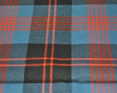 Angus Ancient Tartan Fabric. 100% 10oz Pure New Wool. Large Remnant Piece.