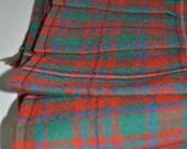 Baby Kilt, 0-6m, MacKinnon Ancient Tartant, 8oz lightweight wool. Handmade in Scotland.