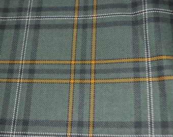 Irish Tartan Fabric. County Wexford tartan. 100% 10oz Pure New Wool. Remnant Piece.