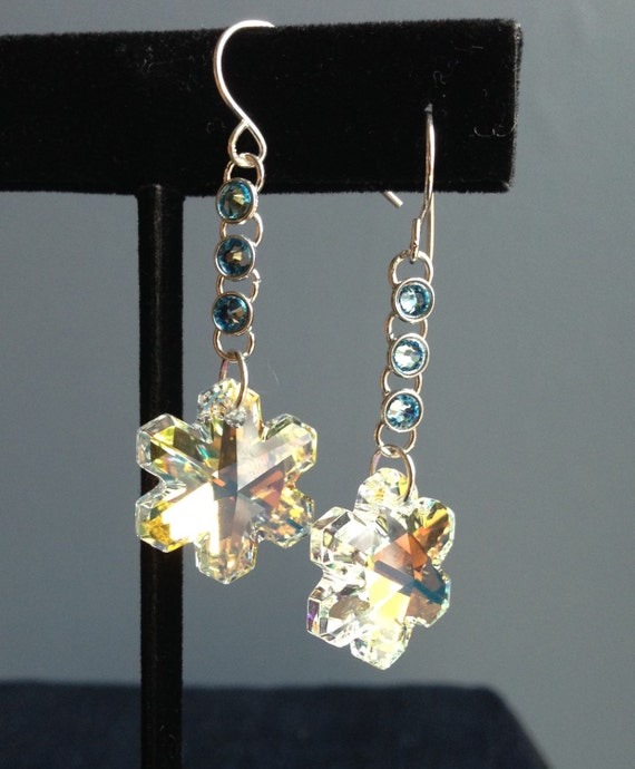 swarovski snowflake earrings swarovski snowflake earrings 9108