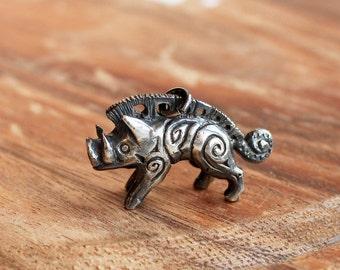 Viking's Wild Boar Pendant, Gullinbursti,  Sterling Silver