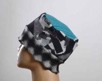 ON SALE Women's Wool Hat - Repurposed Wool Hat - Blanket Hat - Winter Hats - Warm Hats - Women's Hats
