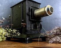 Antique magic lantern picture viewer antique slides industrial