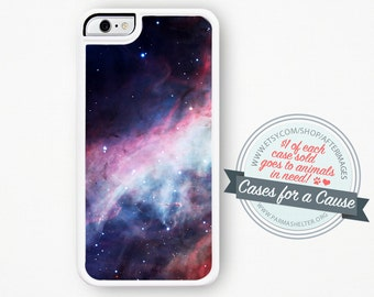 Space iPhone Case / Purple Galaxy Hubble Nebula iPhone 4 4S 5 Case Silicone iPhone 4 Case iPhone 5 Case Silicone or Hard Plastic