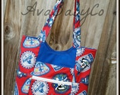 Disney Captain Mickey Disney Cruise Line Inspired Beautiful Tote with Lots of Pockets CUSTOMIZABLE!