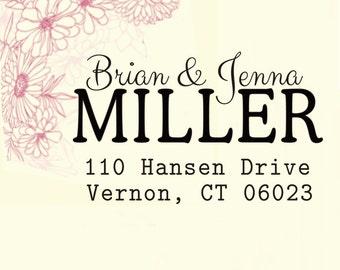 custom address stamp,SELF INKING Return address stamp,personalized family address stamp,wedding address stamp,S66