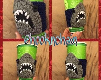 Shark week jaws coffee cup slide on holder