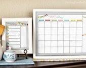 DIY Dry Erase Calendar & Menu Planner Joy