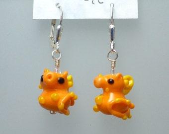 Pygmy Seahorse Glass Earrings