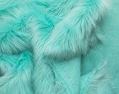 Luxury Shag 60 Inch Faux Fur Aruba fabric by the yard, 1 yard