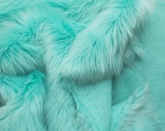 Luxury Shag 60 Inch Faux Fur Aruba fabric by the yard, 1 yard