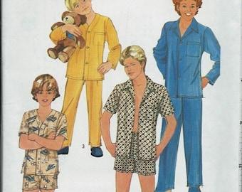 ON SALE Simplicity 6382 Boys Pajamas Pattern, Pajama Top, Pants & Shorts, 6-8, 10-12 and Teen 18-20 UNCUT