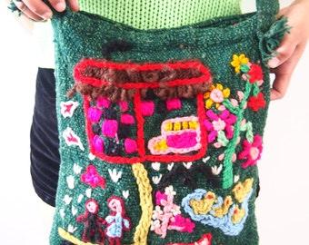 handmade embroidery bag