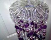 Lavishly Lovely Purple Sun Catcher / Wind Chimes