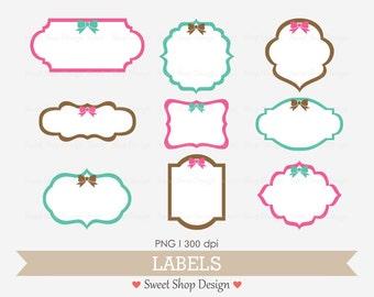 Label or Tag Clip Art, Frames Clip Art, Royalty Free Clip Art, N02, Instant Download