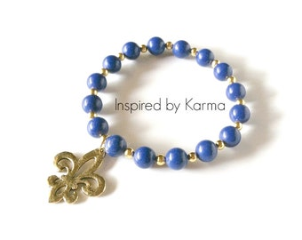 Balancing Mala Bracelet- Royal Blue Mountain Jade -Holiday Shopping/Gifts Under 30/Gemstone Jewlery/Woman's Jewelry