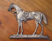 Stallion in Classic - Vintage 1920s Solid Cast Metal Horse Relief
