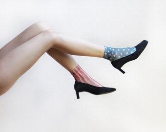 KENZO French designer black suede block heel shoes pumps Size 7