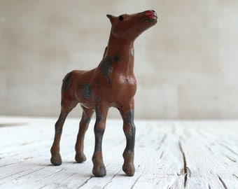 Miniature toy horse. Vintage die cast Britains metal die-cast toy horse. Circa 1930s.